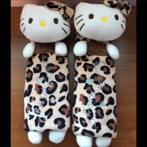 Accessories - Hello kitty leopard car seat belts.